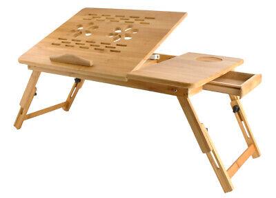 Mesa Laptop para Ordenador Portátil de Madera, Mesilla Y Comedor Cama