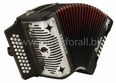 Hohner Panther GCF Button SOL Accordion Acordeon +HardCase_Straps_Book_DVD_Shirt