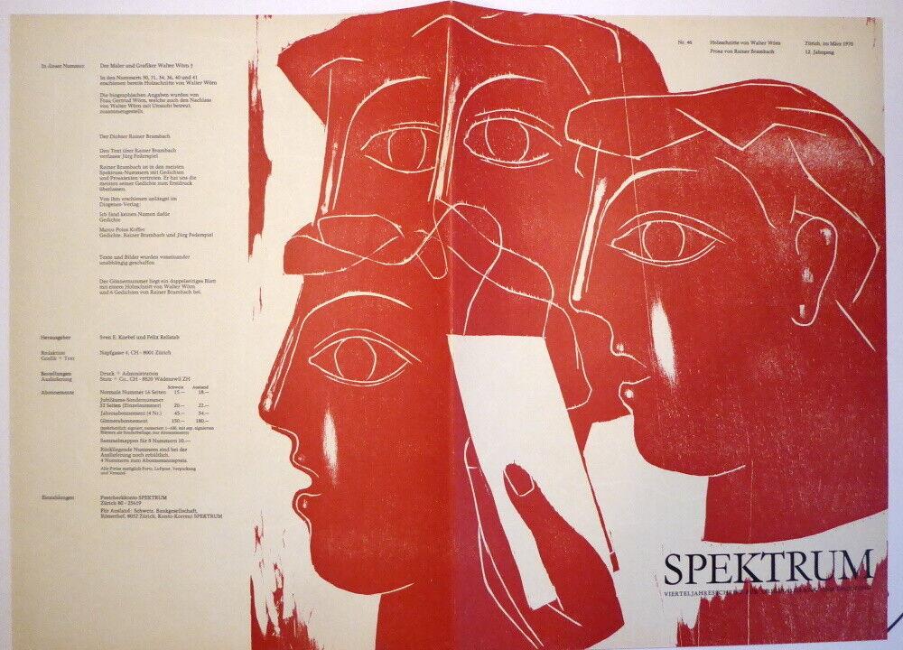 Walter Wörn- Spektrum Nr.46 Originalgraphik Dichtung  Zürich