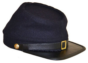 American Civil War Reenactors Union Navy Blue Wool Kepi Hat Cap Size Large