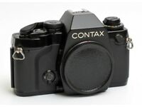 Contax 159 film SLR. Serviced. New seals and covers etc.
