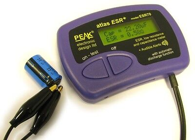 Peak Esr70 Atlas Esr Plus Capacitor Analyser With Audible Alerts From Japan Fs