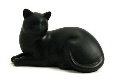 Near & Dear Pet Memorials Cozy Cat Resin Cremation Urn, 25 Cubic Inch, Black, Ne