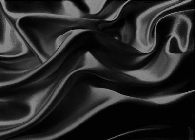 Best Queen Size Bed Sheet Set Royal Opulence Black Satin Silk Soft Bedding 4Pcs