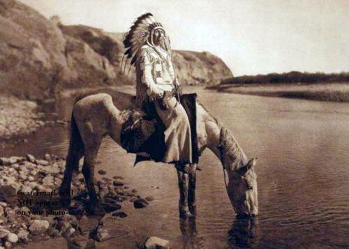 Bow River Blackfoot Chief PHOTO Indian Native American Blackfeet 1910