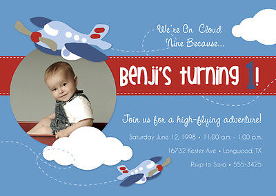 Airplane Themed Birthday Party (Airplane Themed Birthday Party Invitations - FREE)