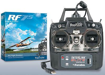 REAL FLIGHT 7.5 RC AIRPLANE FLIGHT SIMULATOR W/ INTERLINK EFLITE MODE 2 GPMZ4520