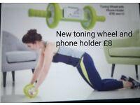 Exercise abdominal training wheel with phone holder New