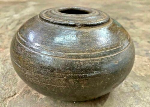 ANCIENT ANTIQUE HANDMADE MUGHAL TERRACOTTA  HOOKAH POT TOBACCO SMOKING