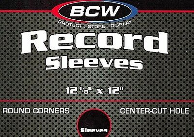 25 BCW 33 1/3 RPM Inner Sleeves White Thick Paper 12 inch LP Record Album Sleeve