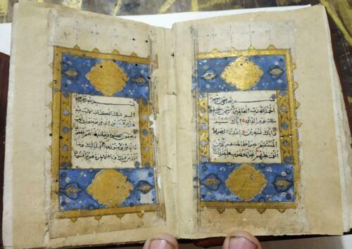 Rarest antique mughal Quran manuscript having seal of emperor Jehangeer , 17TH C