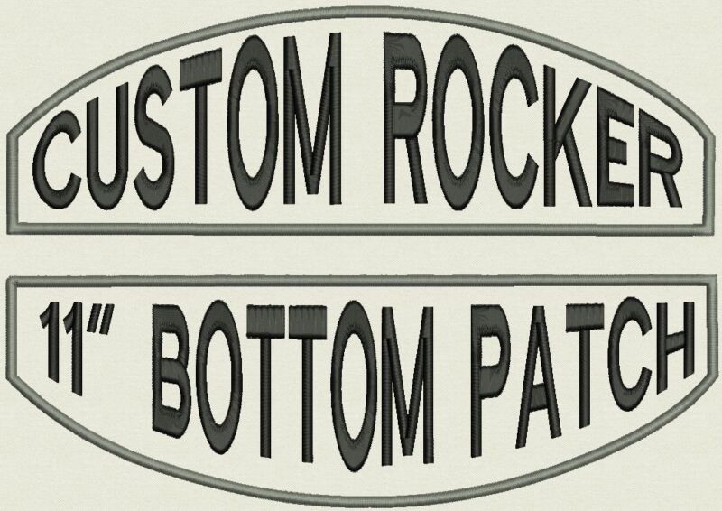 """Set of 2 Embroidered Rockers 11"""" Patches, Iron On or Sew On"""