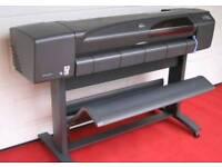 """HP DesignJet 800 wide format 42"""" sign CAD floor plan printer"""
