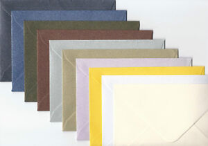 50-C6-QUALITY-SHIMMER-ENVELOPES-CHOICE-OF-10-COLOURS-114mm-x-162mm-4-4-x-6-3