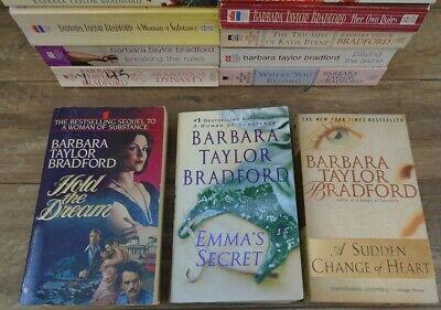 Lot of 14 Barbara Taylor Bradford Books HARTE FAMILY Woman of Substance by Barba (Barbara Taylor Bradford Harte)