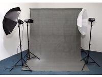 3 Head Comprehensive Studio Flash Kit - Ideal Starter Kit