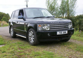 2002 Java Black L322 Range Rover Vogue 4.4 v8