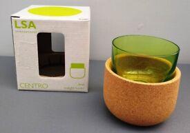Glass / cork tealight holder