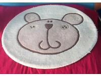 Pure Wool Beige Baby Rug & Animal Lampshade