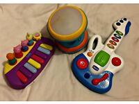 Musical Bundle - Peppa Pig Keyboard, First Guitar and Light & sound Drum