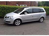 Vauxhall Zafira MPV 1.8i Design (Panoramic Roof, Leather Seats, Park Assist, AC) 7 Seater