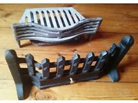 Fire grate, front and ash pan