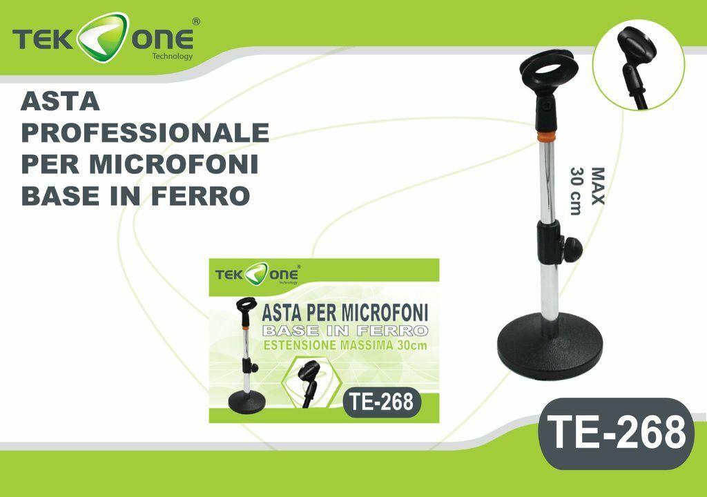Base Asta Staffa Supporto Da Tavolo Regolabile Per Microfono TeKone NB 268 hsb
