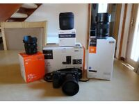 Sony A6000 Camera and 3 prime lens kit. All Immaculate.