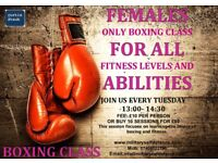 Females Only Boxing class