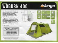 Vango Woburn 400 , 4 Man Berth Tunnel Tent