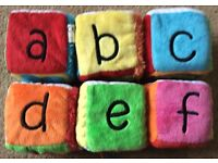 Baby Touch & Feel Soft Cubes x 6