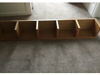 CD shelves Oak Effect