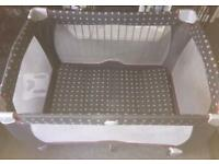Well padded unisex travel cot used for a weekend !