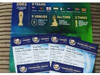 4 × INDIA vs SRI LANKA ICC CHAMPIONS TROPHY TICKETS *SOLD OUT EVENT*
