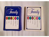 TRIVIAL PURSUIT FAMILY EDITION 100 SPARE QUESTION CARDS.