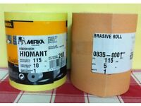 2 x SANDING ROLLS 115mm WIDE - NEW, UNUSED