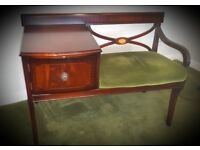 Vintage Retro Hall Table Seat Storage Upcycle shabby chic project country cottage