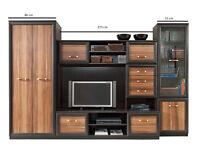 Living Room/ Bedroom Furniture Set Wenge / Plum Wallis