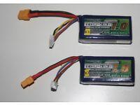 Drone - Set of 2 Turnigy Nano-Tech 1000mah 4S 25-50C LiPo Batteries