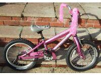 "Girls Pink Roxie 16"" Wheel Bicycle"