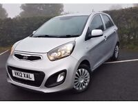 2012 Kia Picanto 1 1.0 5dr - Free Road Tax, Low Miles, Cheap Insurance, Warranty until 2019!