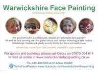 Face Painting, Balloon Modelling & Glitter Tattoos Coventry & Warwickshire