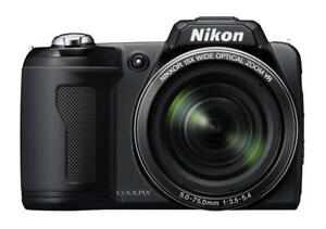 "Nikon Coolpix L110 12.1MP Digital Camera / Camcorder. 15x Optical Zoom. 3.0"" Display. VR Image Stabilization. HD Video"