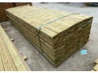 New Pressure Treated Wooden Decking Boards
