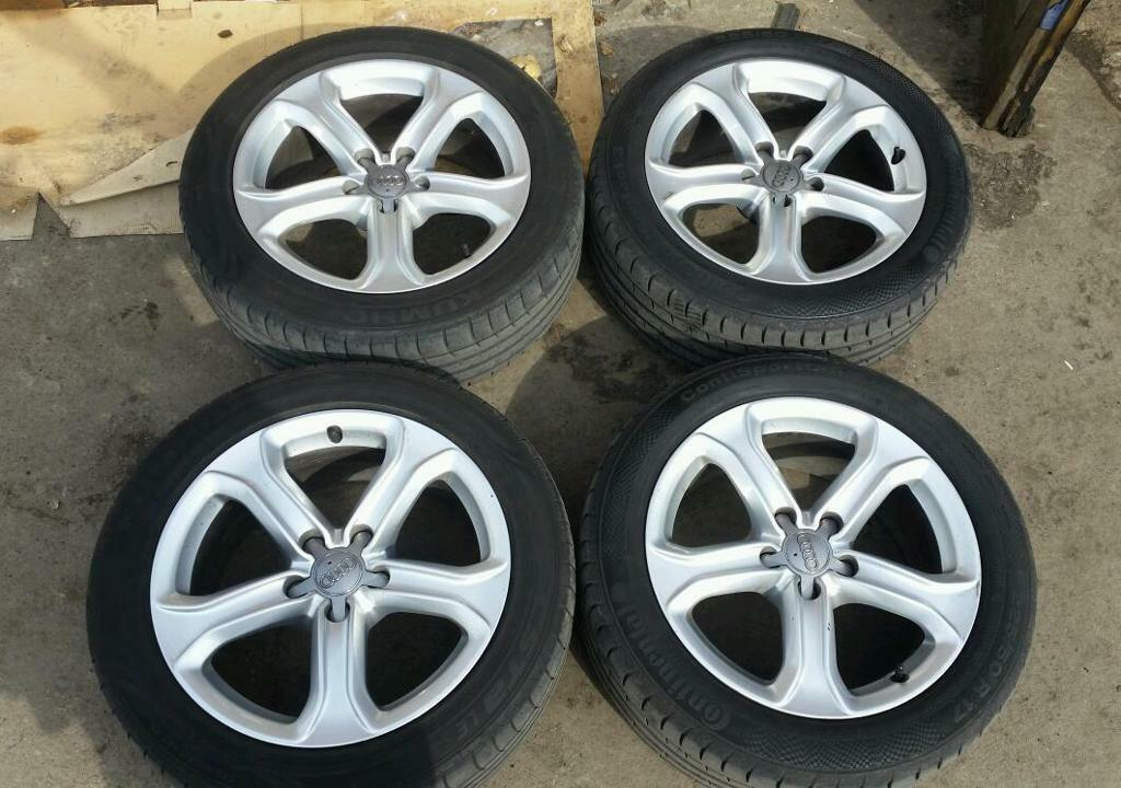 Audi A4 A5 A6 17 Inch 5 Spoke Genuine Audi Alloy Wheels