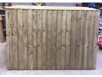 🌳Pressure Treated Heavy Duty Straight Top Feather Edge Wooden Garden Fence Panels