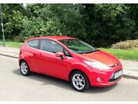 Ford Fiesta 1.2 Zetec, (2012-62-Reg) Only 59,000 miles, FSH, Bluetooth, Alloys, 3 Door, Stunning Red