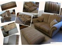 Parker Knoll Burghley Baslow 3 & 2 Seater Sofa's & footstool