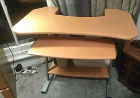 Table desk and a office Leather chair