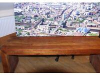 Long john coffee table.